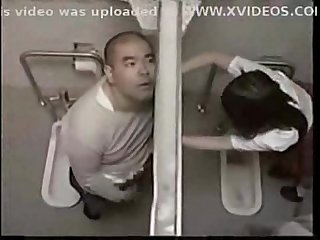 Teacher fuck student in toilet