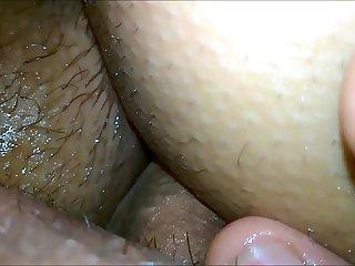 my sleeping girlfriend, her sweet holes, fuck and cum in her ass