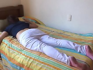 Teen sister fucked while sleeping