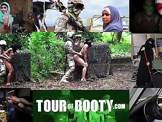 TOUR OF BOOTY - Local Arab Working Girl Entertains American Soldiers In The Middle East