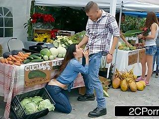 Farmer's Slutty Wife Eva Lovia Cheating With A Random Customer