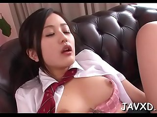 Sex with breasty oriental girl