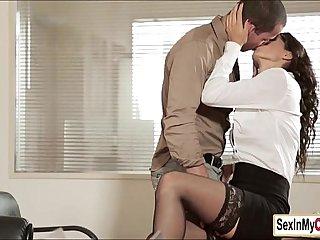 Secretary Alexa swallows her boss cum