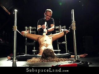Slave With Dental Gag Extreme Rough Orgasm And Pain