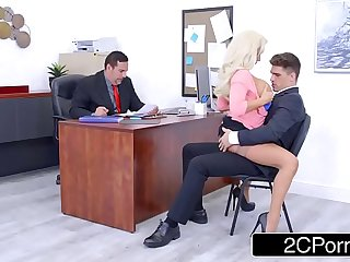 Busty Olivia Fox Using Her Big Tits To Her Company's Advantage