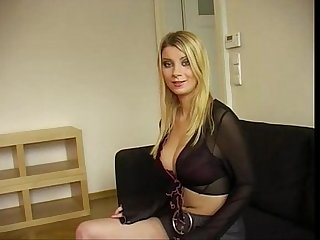 Beautiful desperate Russian Model on job interview