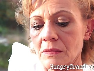Classy granny gets pussy licked