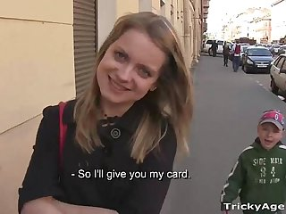 Tricky Agent - A blue-eyed chick Alena, shy but interested!