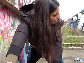 Public Agent Hot creampie climax after outdoor steamy sex session