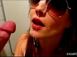Amateur Facial and Swallowing Compilation (Big Cumshots)
