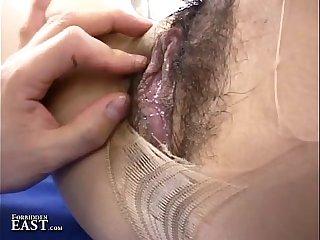 Uncensored Japanese Erotic Pantyhose Fetish Sex